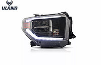 Передняя альтернативная оптика на Toyota Tundra 2014-20, фото 1