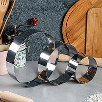 """Набор форм для выпечки и выкладки """"Круг"""", D-20, H-5 см, 3 шт"""