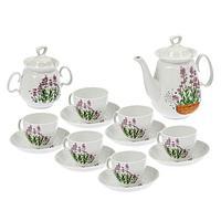 Сервиз чайный «Реванш. Лаванда», 14 предметов: чайник 750 мл, сахарница 350 мл, 6 блюдец 15 см, 6 чашек чайных
