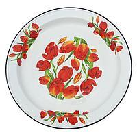 Блюдо «Тюльпаны», декор на дне, 5 л, деколь МИКС