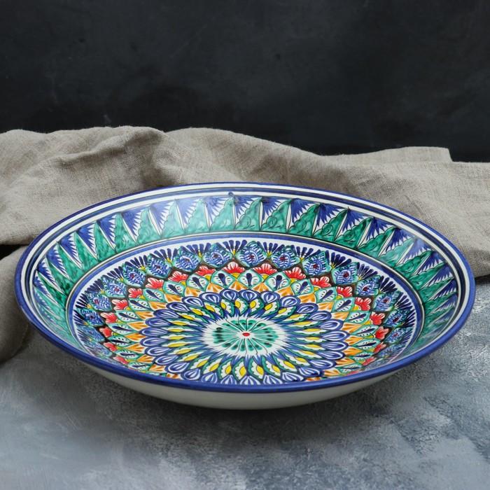 Ляган круглый «Риштан», 33 см, орнамент