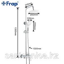 FRAP F2431 Душевая стойка белый/хром, фото 2