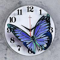 """Часы настенные, серия: Животный мир, """"Бабочка"""", 30х30 см микс, фото 1"""