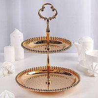 Подставка для десерта «Злата», 21×21см, 2 яруса