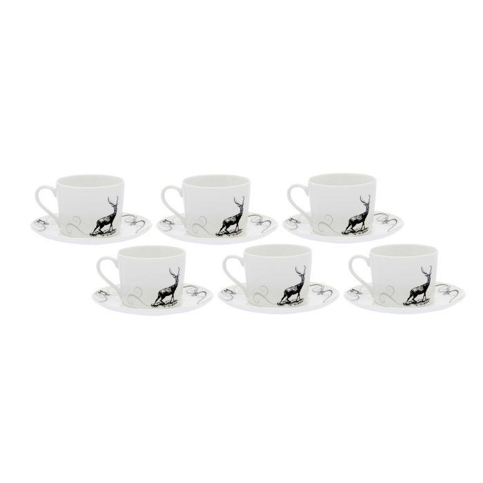 Набор чайный на 6 персон Once Upon A Time, 12 предметов: 6 чашек 250 мл, 6 блюдец