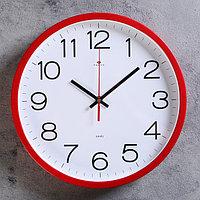 """Часы настенные круглые """"Классика"""", 30 см красные"""