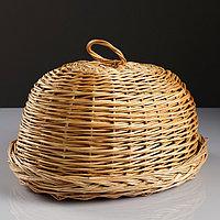 Хлебница со съёмной крышкой, 30×40×18 см, ручное плетение, ива