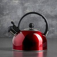 """Чайник со свистком 1,8 л """"Рэд"""", цвет красный"""