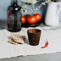 Рюмка 100 мл «Сибирская Сосна», из натуральной сосны, цвет шоколадный