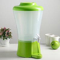 Диспенсер для напитков 8 л, с колбой для льда, цвет зелёный