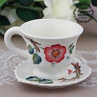 Чайная пара «Вишневый сад», 0,2 л, 14,8×7,9 см, 1 сорт