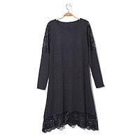 Платье женское «Айова», цвет тёмно-серый, размер 52