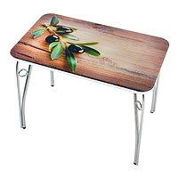 Стол прямоуголный с фотопечатью Оливковая ветвь 1000х600х757 столешница стеклянная