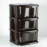 Комод 3-х секционный «Домовой», цвет коричневый