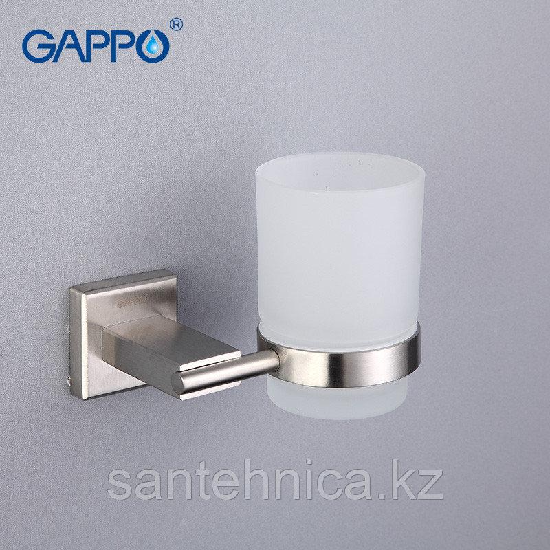 Gappo G1706 Стакан настенный для ванной стекло