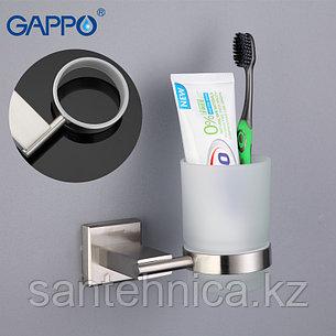 Gappo G1706 Стакан настенный для ванной стекло, фото 2