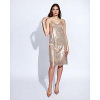 """Платье женское MINAKU """"Caroline"""", размер 42, цвет золото"""