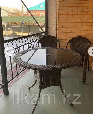 Комплект мебели из ротанга, стол круглый , 2 кресла, фото 2