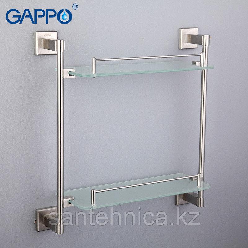 Gappo G1707-2 Полка стекло 2-ярусная