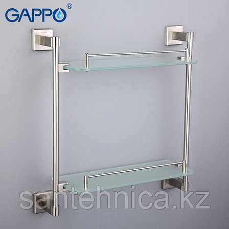 Gappo G1707-2 Полка стекло 2-ярусная, фото 2