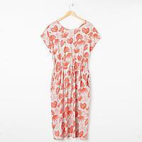 Платье женское, цвет коралл, размер 66
