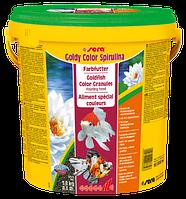 SERA goldy Color Spirulina 10 л (ведро) плавающие шарики