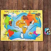Пазл «Карта мира» на русском языке, 13 элементов