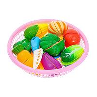 Набор продуктов-нарезка «Поварёнок« в корзинке, на липучках, 20 предметов, цвета МИКС