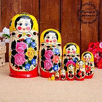 Матрёшка «Семёновская», жёлтый платок, 10 кукольная, 24 см