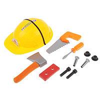 Набор инструментов «Юный строитель», с каской