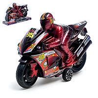 Мотоцикл инерционный «Спортбайк», с гонщиком, цвет МИКС