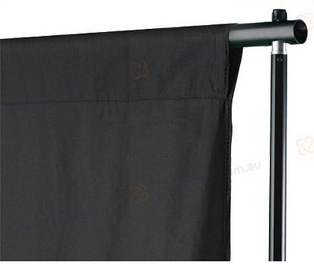 Студийный тканевый фон 3 м × 2 м чёрный, фото 2