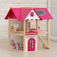 """Кукольный домик """"Розовое волшебство"""", с мебелью"""
