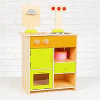 Игровой набор «Кухонный модуль», деревянная посуда в наборе