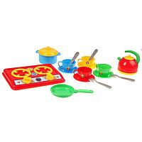 Набор для кухни «Галинка 5», плита, кастрюля, сковорода, чайник, чайный набор