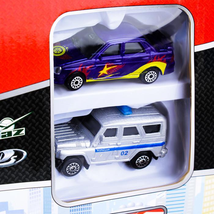 Парковка «Технопарк» с двумя металлическими машинками УАЗ Лада 7,5 см - фото 2
