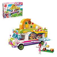 Конструктор для девочек «Пиццерия на колёсах», 414 деталей