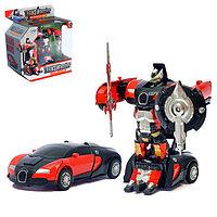 Робот-трансформер «Автобот» с инерционным механизмом, цвета МИКС