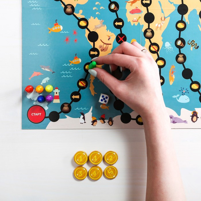 Настольная развивающая игра «Кругосветная математика» - фото 10