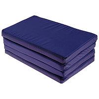Мат 120 х 50 х 4 см, 3 сложения, oxford, цвет синий