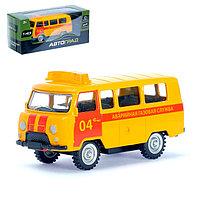 Машина металлическая «Микроавтобус газовая служба», инерционная, масштаб 1:43