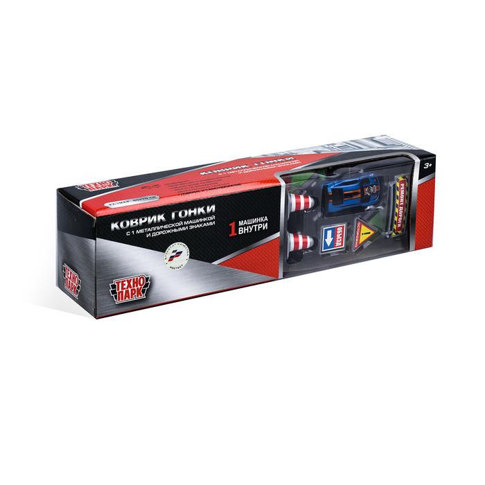 Коврик игровой «Технопарк», с одной металлической машинкой, с дорожными знаками, 7,5 см - фото 7