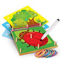 """Геоборд с карточками """"Пиши-стирай. Животные"""" П300"""