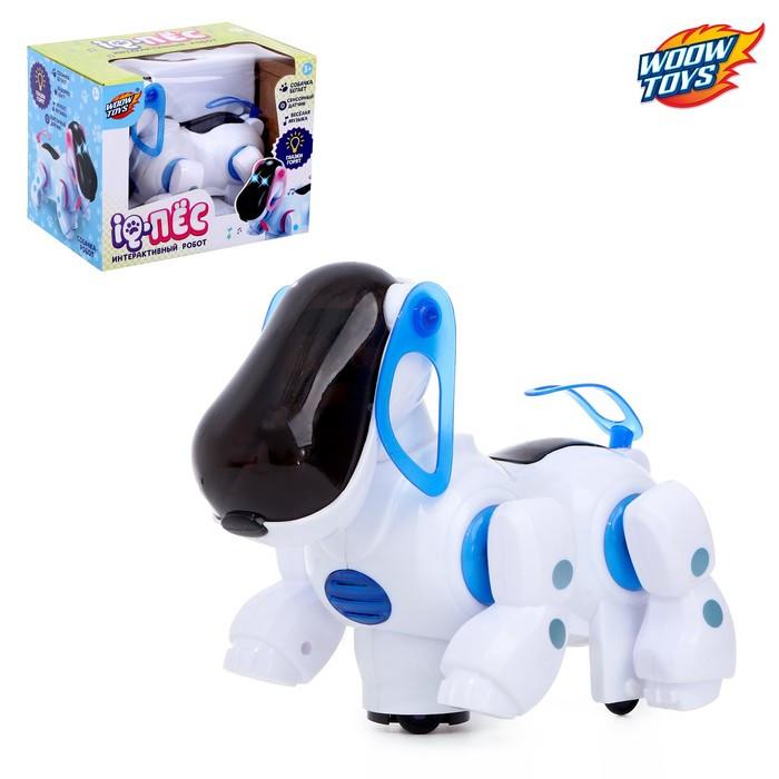 Игрушка-робот «IQ-Пес», работает от батареек, световые и звуковые эффекты, МИКC