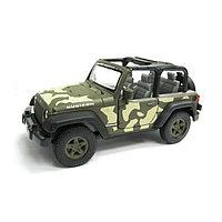 Коллекционная модель военной машины Jeep Wrangler Rubicon, масштаб 1:34-39