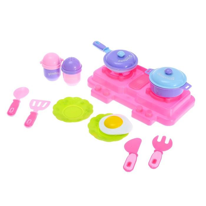 Набор посуды «Летний день», с плитой