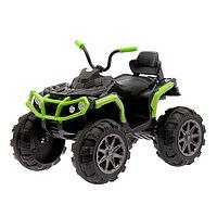 Электромобиль «Квадроцикл», 2 мотора, цвет зеленый (без радиоуправления)