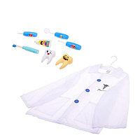 Набор доктора с халатом «Маленький стоматолог», 8 предметов