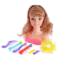 """Кукла-манекен для создания причёсок """"Модница"""" с аксессуарами"""