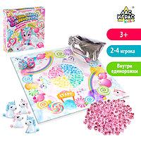Настольная игра-бродилка «Волшебные единороги»: кристаллы, кубики, мешочек, единороги